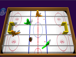 Screenshot of Table Ice Hockey 3d