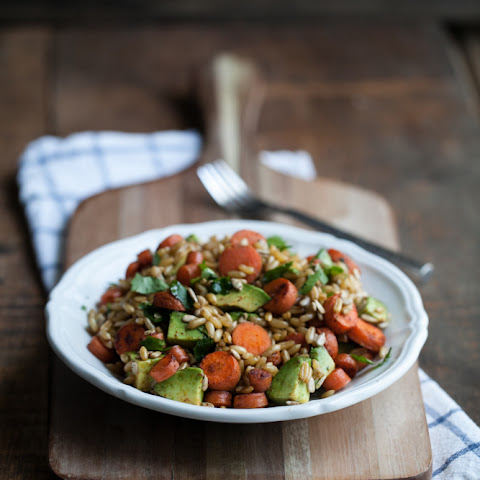 Chipotle Carrot, Avocado, and Kamut Salad