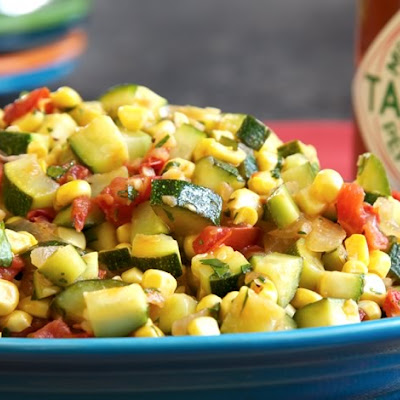 Zucchini with Tomatoes & Corn