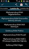 Screenshot of Kalendarz Świąt Nietypowych