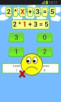 Screenshot of math equations game
