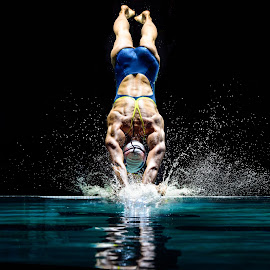 Olympic Gold Medalist Breeja Larson by Jim Harmer - Sports & Fitness Swimming ( brazil, splash, rio de janeiro, olympics, breeja larson, breeja devereaux, olympian, diving, swimming, jump, swimmer,  )