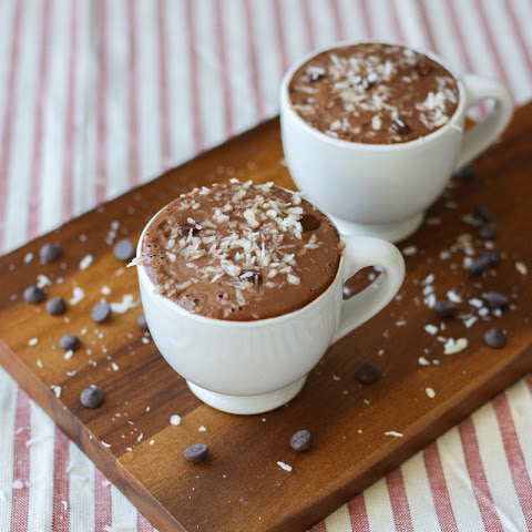 Frothy Hot Chocolate with Pistachio Milk
