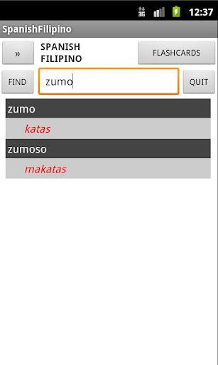 Filipino Spanish Dictionary