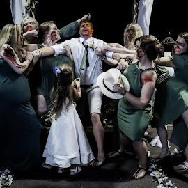 Zombie Wedding by Vince Maggio - Digital Art People ( zombie, wedding, coustume, terror, attack,  )