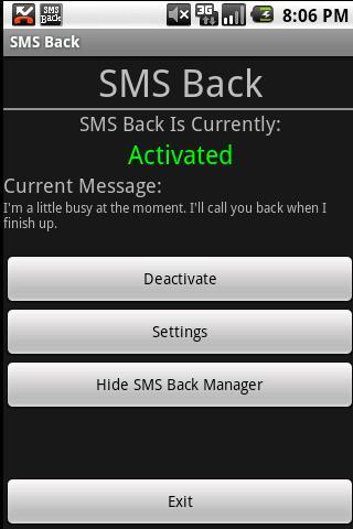 SMS Back