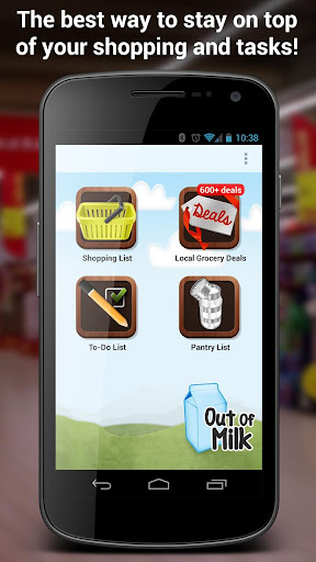 out-of-milk-shopping-list for android screenshot