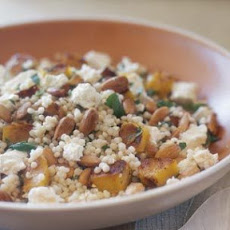 Israeli Couscous with Squash, Feta and Almonds