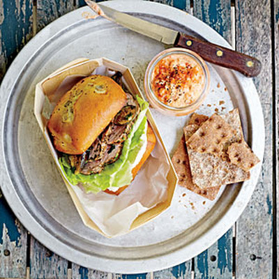 Figgy Pork Tenderloin Sandwiches