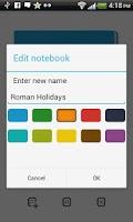 Screenshot of m>notes notepad free