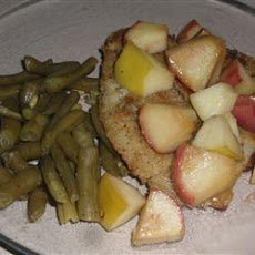 Sea Bass with Honeyed Apples