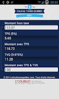 Screenshot of Quebec Sales Tax Calculator