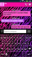 Screenshot of GO SMS Girly Zebra Theme