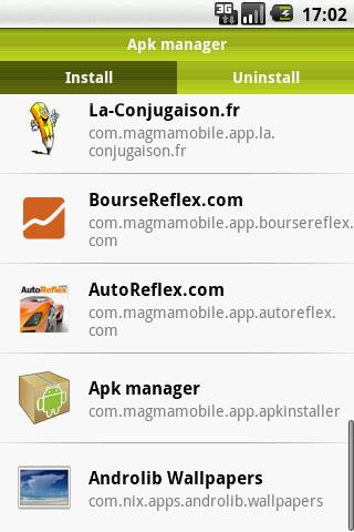 apk-manager for android screenshot