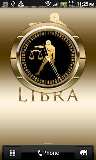 LIBRA - Zodiac Clock