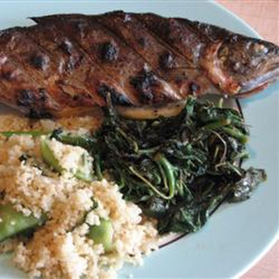 Trout with Fiddlehead Ferns