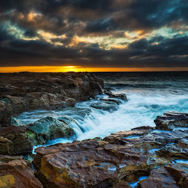Moody Seas by Tim Searle - Landscapes Waterscapes