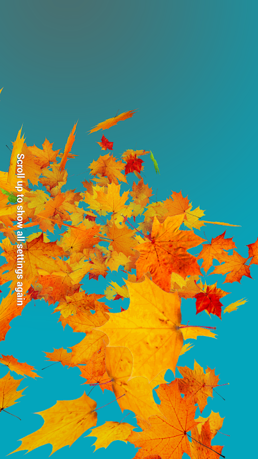 Autumn Leaves Live Wallpaper Screenshot 3