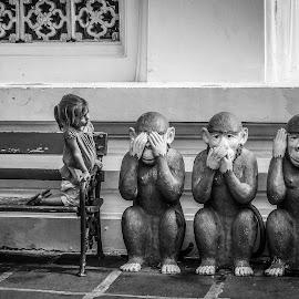4 wise monkeys by Nathalie Gemy - Babies & Children Children Candids