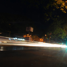 Shooting Star by Balasubramanian Velu - Abstract Light Painting ( photowalk, star, motion, light, chennai )
