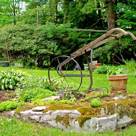 Antique Garden Tiller by Jane Spencer - Artistic Objects Antiques ( detail, tilller, feature, landscape, antique, garden )