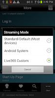 Screenshot of Live365 Radio