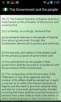 Screenshot of Nigerian Constitution