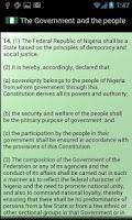 Screenshot of Nigerian Constitution