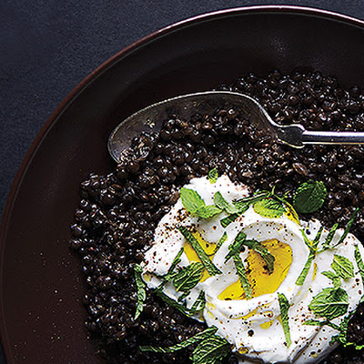 Spiced Black Lentils with Yogurt and Mint