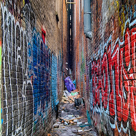Up Your Alley by Roy Morra - City,  Street & Park  Street Scenes ( urban, hdr, toronto, graffiti, grungy, trash, garbage, city, alley, decay )