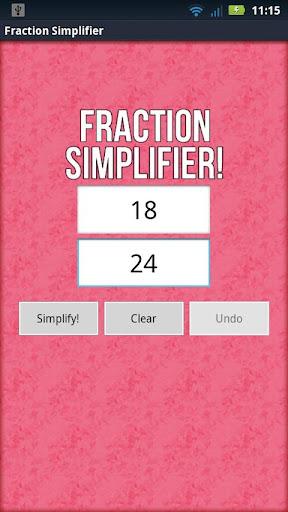 分數 Simplifier!