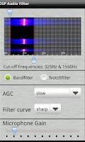 Screenshot of DSP Audio Filter