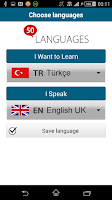 Screenshot of Learn Turkish - 50 languages