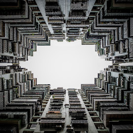 Framed by cages by Eloa Defly - Buildings & Architecture Other Exteriors ( asia, macau, architecture, residensity, china )