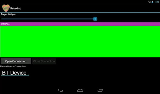 Relaxino for Arduino-Android - screenshot