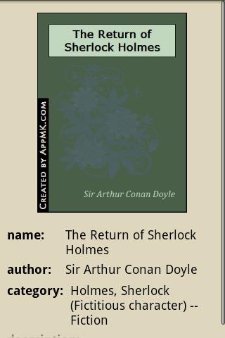 玩免費書籍APP|下載The Return of Sherlock Holmes app不用錢|硬是要APP