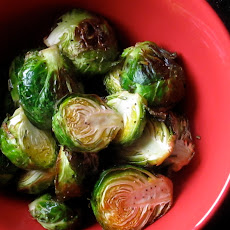 Oven Roasted Brussel Sprouts With Rosemary