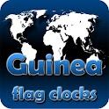 Guinea flag clocks icon