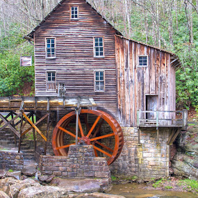 Old Watermill by Jacob Padrul - Buildings & Architecture Public & Historical ( countryside, water mill, old, west virginia, serenity, grist mill, relaxing, rustic, watermill, historic )