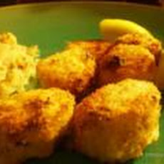 Low Fat Oven-Fried Scallops