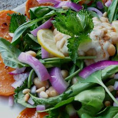 Persian Inspired Salad With Sweet Potato and Spinach