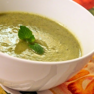 Cold Zucchini Soup with Curry and Mint