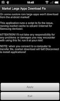 Screenshot of Market Large Apps Download Fix