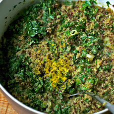 Dinner Tonight: Quinoa Salad with Lemon-Cream Spinach