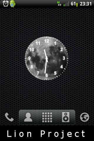 月亮白色的時鐘