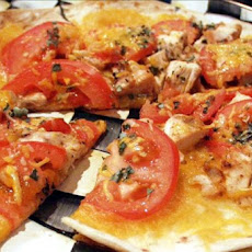Grilled Chicken Margherita Tostada Pizzas