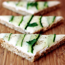Cucumber Open Faced Sandwiches