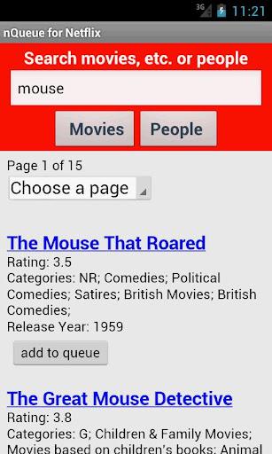 nQueue for Netflix