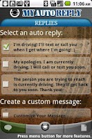Screenshot of MyAutoReply