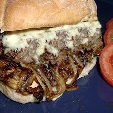 Andouille & Beef Burgers With Blue Cheese